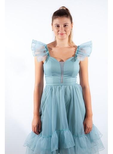 Belamore  Kadın Tül Detaylı Abiye & Mezuniyet Elbisesi 9704687.331 Renkli